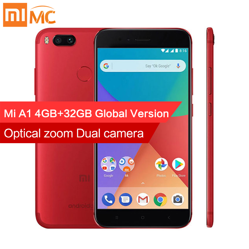 Globale Versione Xiao mi mi A1 4 GB 32 gb mi smartphone 12.0MP doppia Fotocamera SNAPDRAGON 625 Octa Core 5.5