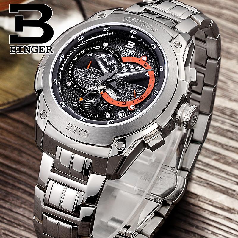 Official Binger Swiss men's watch Chronograph Diver 1