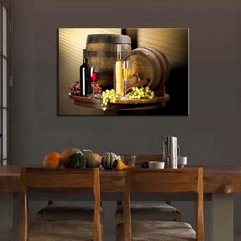 1 pcs modern still life wine bottles wall art painting red for Best brand of paint for kitchen cabinets with cheap contemporary wall art