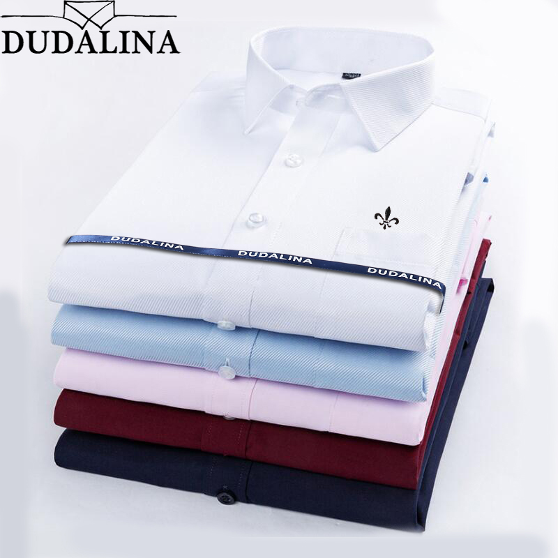 Dudalina Camisa Male Shirts 2019 Long Sleeve Men Shirt Brand Clothing Casual Slim Fit Camisa Social Masculina Chemise Homme