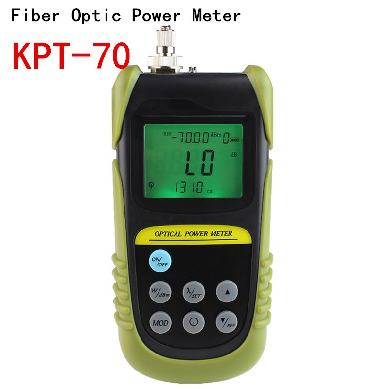 10pcs/lot FTTH Tools Fiber Optic Power Meter Tester -70 To +6 Db Power Meter Tester FC/SC Connector LightTest 6  Wavelength