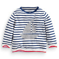 Monkids Boys t Shirt Stripe Ruffle Raglan Long Sleeve Cotton t-Shirt Boy Kid Clothing Children's T-Shirts Children's Tees