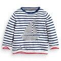 Monkids Meninos t Camisa Tarja Irritar Raglan t-Shirt de Algodão de Manga Longa Roupas T-shirt das Crianças das Crianças Do Menino Do Miúdo Tees