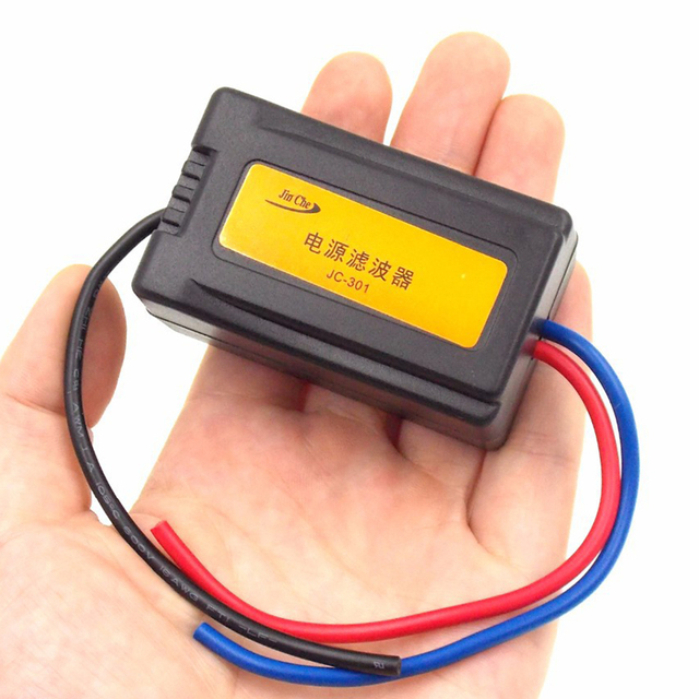 Special Price Motorcycles Car 12V Eliminate the interference noise power Filtering the noise Audio power filter