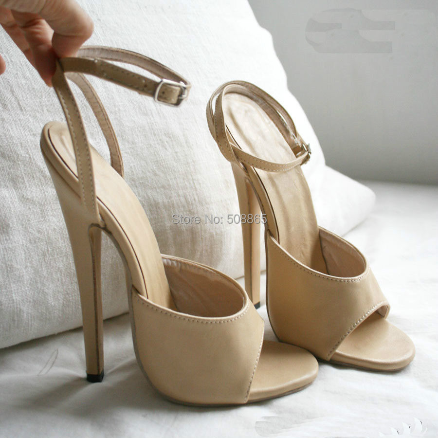 Aliexpress.com : Buy 18 CM high heels sexy ankle strap shoes,women ...