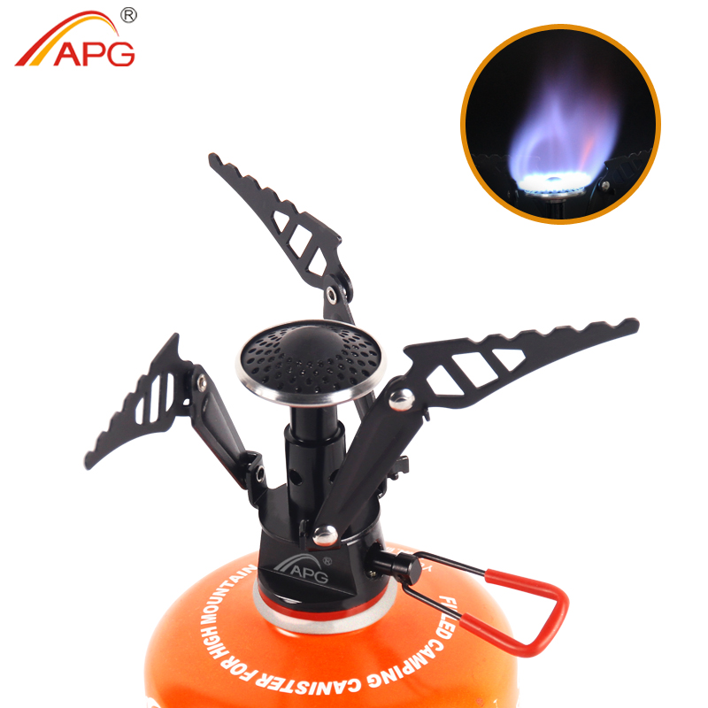 APG Outdoor Camping Stove Portable Picnic Foldable Gas Burner Mini Ultralight Survival Furnace Stove 95g Cooking Equipments