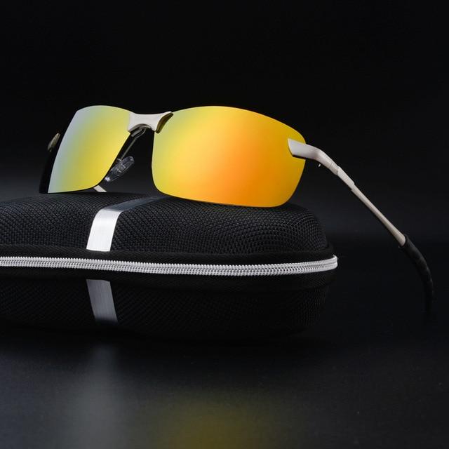 599eb7058c CHUN Metal Rimless Brand Designer Polarized Sunglasses Men Glasses Driving  Glasses Summer 2017 Eyewear Accessories Y8