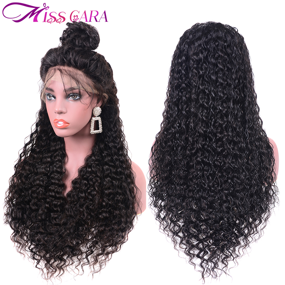 100 Human Hair Wigs For Women Peruvian Water Wave Pre Plucked Lace Frontal Wig 150 Density