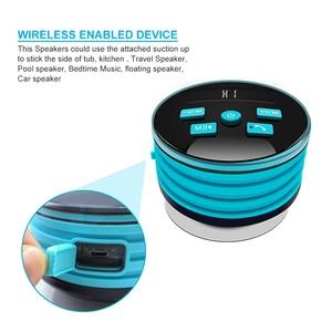 Image 3 - HAAYOT Mini waterproof Wireless Speaker FM Radio Bluetooth 4.2 Build In Microphone Water Resistant Shower Speaker With LED Light