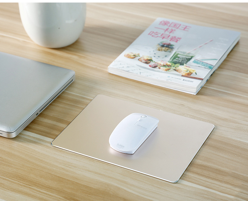 large-size-Aluminum-alloy-hard-mouse-pad-gold