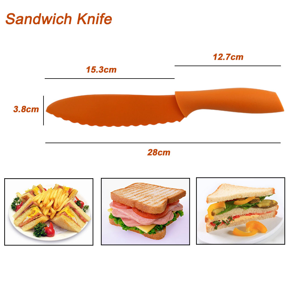 FINDKING Colorful kitchen tools Non Stick Knife Set with 13\'\' inch ...