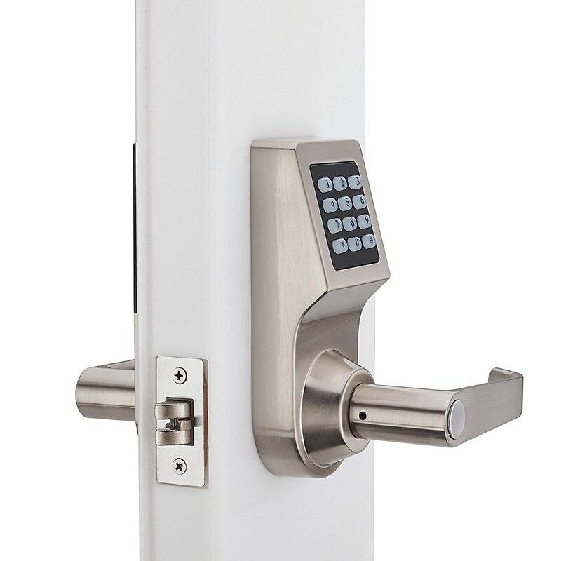Mot de passe serrure électronique de porte avec clavier numérique télécommande RFID clé déverrouiller serrure intelligente porte en bois