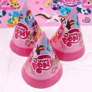 Image 5 - Опциональное украшение для Маленького Пони, сувениры для вечерние Ринок, тарелки, вилки, товары для детского дня рождения, наборы одноразовой посуды