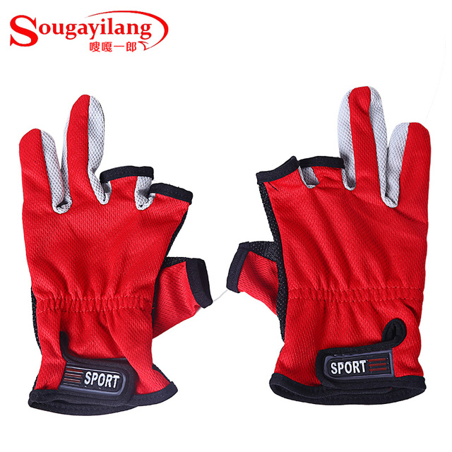 New Outdoor Sport Gloves 3 Fingers Cut Breathable Anti Slip Biking