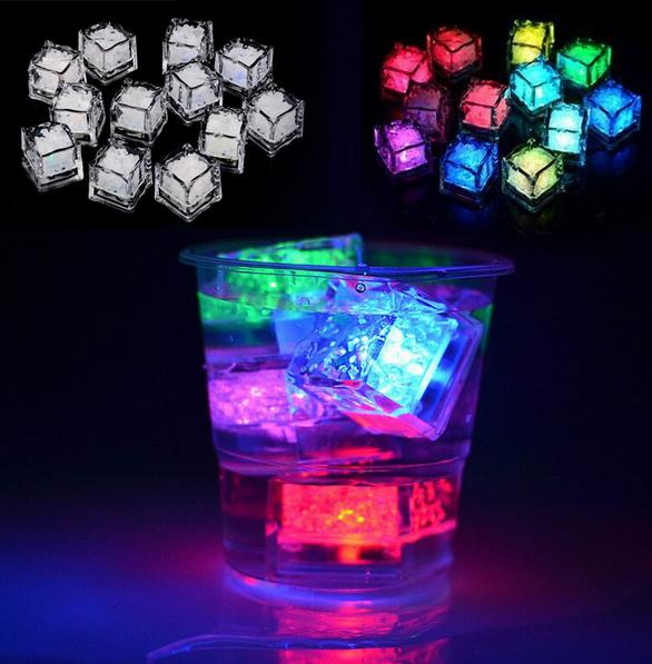 polychrome flash ice liquid active glowing ice cube lights decor
