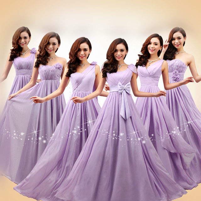 2017 New cheap Beautiful Dresses Six Styles Maxi Long Dress Purple ...