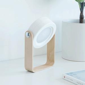 Image 3 - NEW Creative Wooden Handle Portable Lantern Lamp Telescopic Folding Led Table Lamp Charging Night Light Reading Lamp