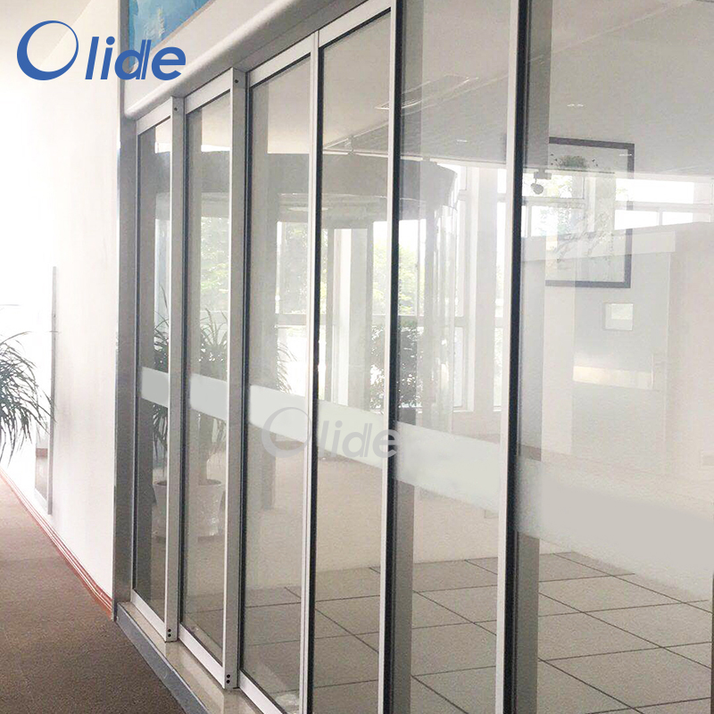 Telescopic Automatic Sliding Door Opener, Overlapping Door Automatic Sliding Door Opener automatic sliding door opener remote control power sliding door opener cover and rail are included