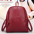 2017 New Fashion Korean Style Backpack PU Leather Women's School Bag Band Backpack for Girls College Travel Zipper Bag YL028