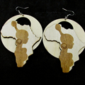 5pairs/lot 2017 Newest African Girl Wooden earrings
