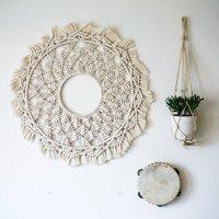 Macrame round/circle mandala in 100% pure cotton tapestry wall hanging Boho tapestry wall decoration