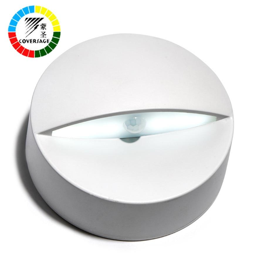 Coversage Smart Led Motion Sensor Night Light Emergency Toilet Wall Bathroom Light Home Bedroom Toilet Bathroom Kitchen Lights