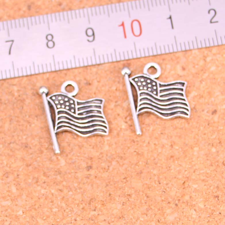 Charms Pendants Bracelet Necklace Jewelry-Making Tibetan Silver-Plated Handmade 30pcs