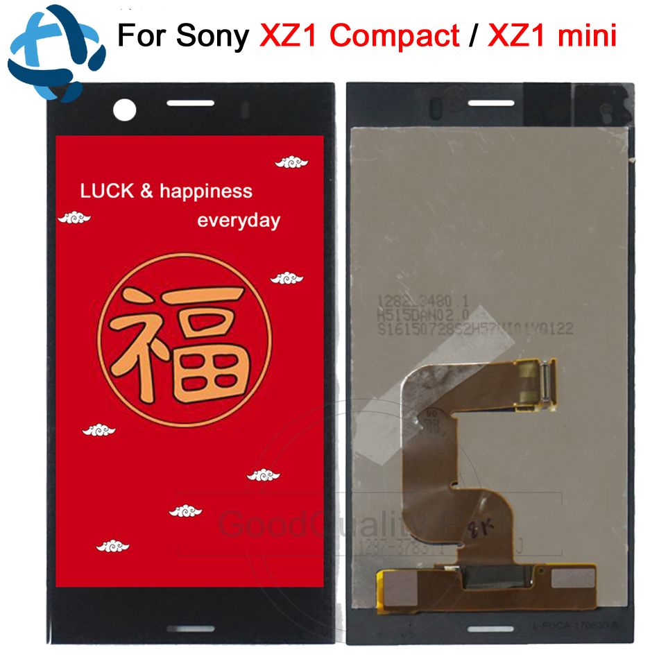 1280x720 IPS LCD for SONY Xperia XZ1 Compact Display 4 6 XZ1 MINI LCD with Touch
