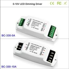 BC-LED Dimming Driver 330-5A 5A*3CH 0-10V LED driver,CV PWM 10A/1CH 0-10v dimming driver controller BC-330-10A 4 channels 0 1 10v to pwm 5v pwm 10v 2 dip switches out led dimming signal converter signal driver controller for led lamp