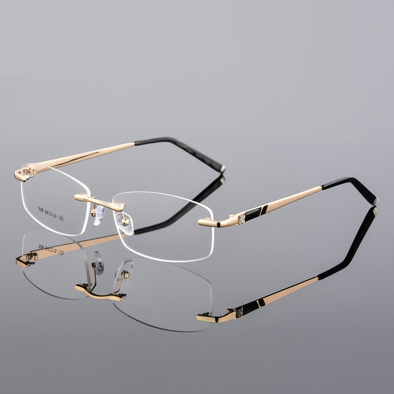 Vazrobe Prescription Eye Glasses Men Women Rimless Men's Degree Optic Fashion High Quality Progressive Multifocal 1.61 1.67