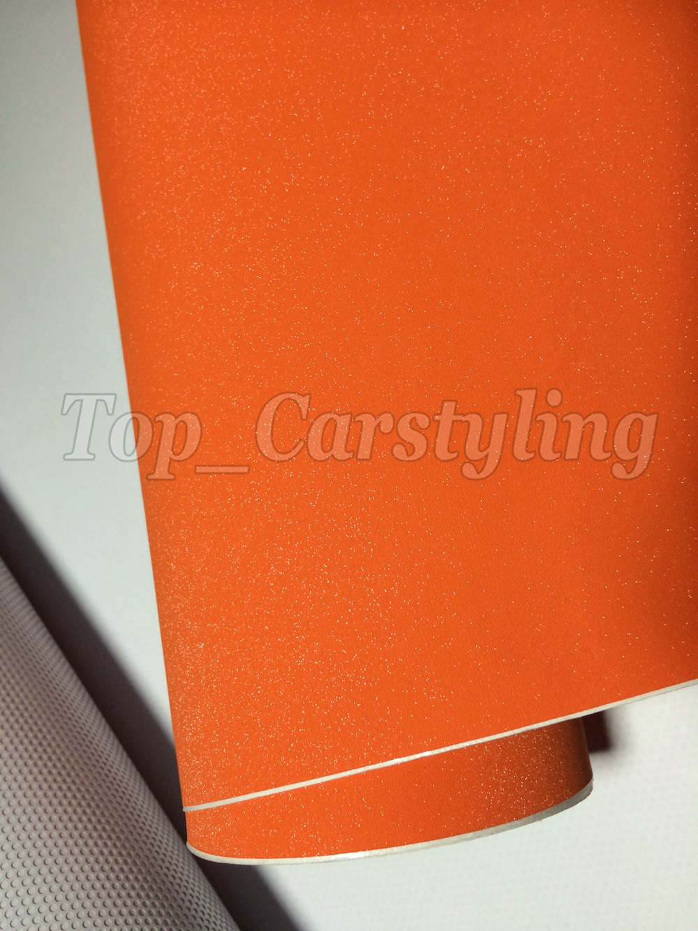 Orange glitter sparkle car wrap vinyl film (2)