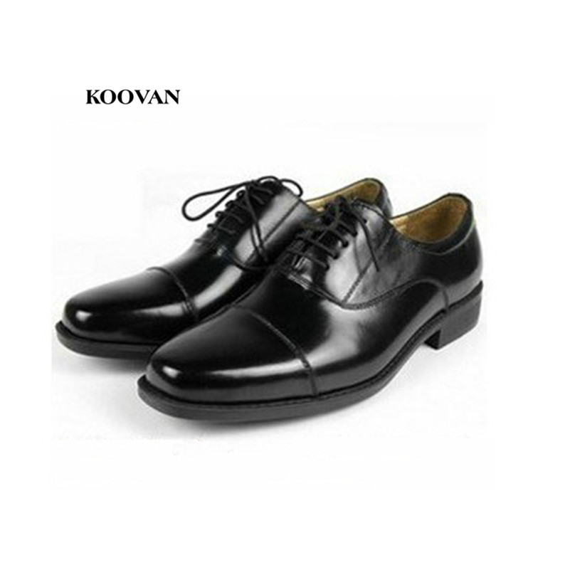 Koovan Mens Uniform Clothing Shoes For Men 2018 Spring And Summer Casual Real Leather Business Dress Shoes Father