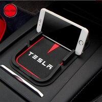 Phone Anti Slip Mat Holder Support Bracket Mount For Tesla Model S Model X 75D 90D