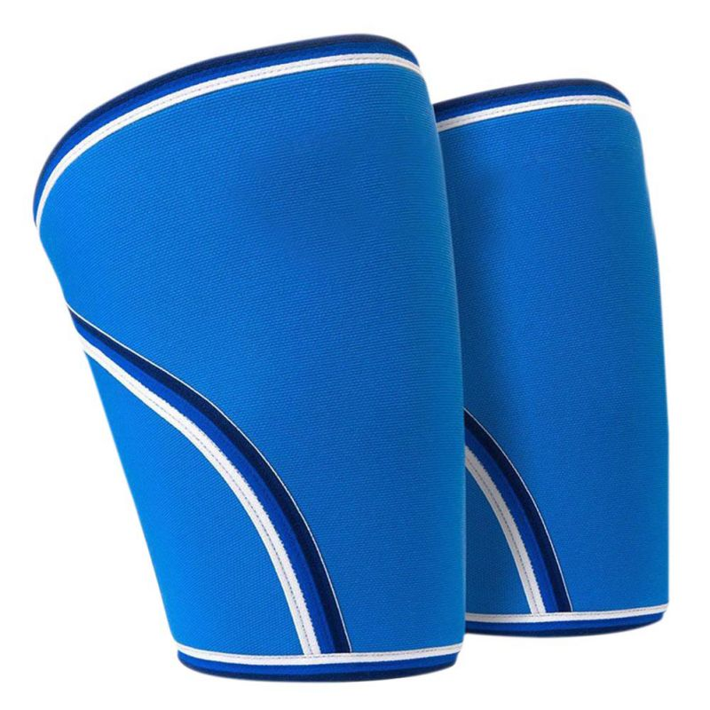 1 Pair / 2 pieces Outdoor Sports 7mm Thicker Knee Diving Material Lift Weight Squat Knee Pads
