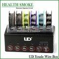 2016 Original Youde UD caixa de fio com 6 tipos de fios SS316L / Ni200 / fios 6 pcs fio de nicromo em uma caixa