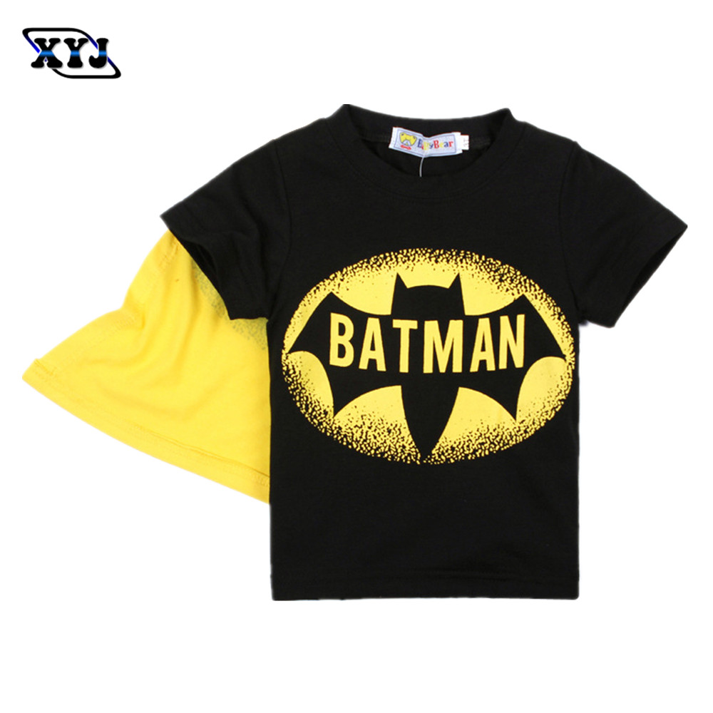 Black t shirt batman - Aliexpress Com Buy Costume Batman 2016 Summer T Shirt Batman Tees Kids Boys Super Hero T Shirt Children Cotton Tops With Cape Black Printed From Reliable