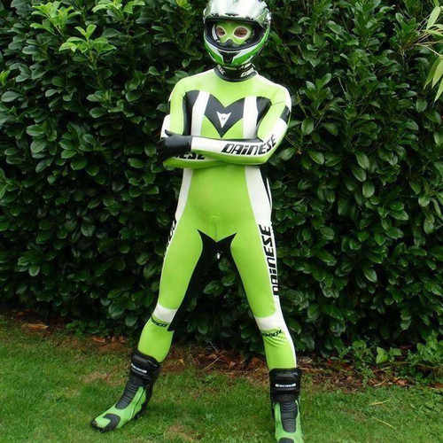 100% Latex Catsuit Racing Apple Groene Pak Bodysuit Maat XXS-XXL