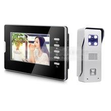 DIYKIT Video Door Phone Intercom System 7″ Color LCD Monitor 700TVL CMOS Camera 1 v 1