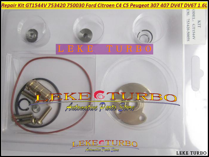 Free Ship TURBO Repair Kit rebuild Kits GT1544V 753420 753420-5005S 750030 For FORD For CITROEN C4 C5 206 307 407 DV4T DV6T 1.6L turbo cartridge chra core gt1544v 753420 740821 750030 750030 0002 for peugeot 206 207 307 407 for citroen c4 c5 dv4t 1 6l hdi