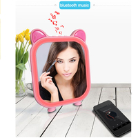 Makeup Mirror Cosmetic 3 Modes LED Locking Bright Diffused Light Cosmetic Mirrors Makeup Tool with Music Bluetooth Speaker