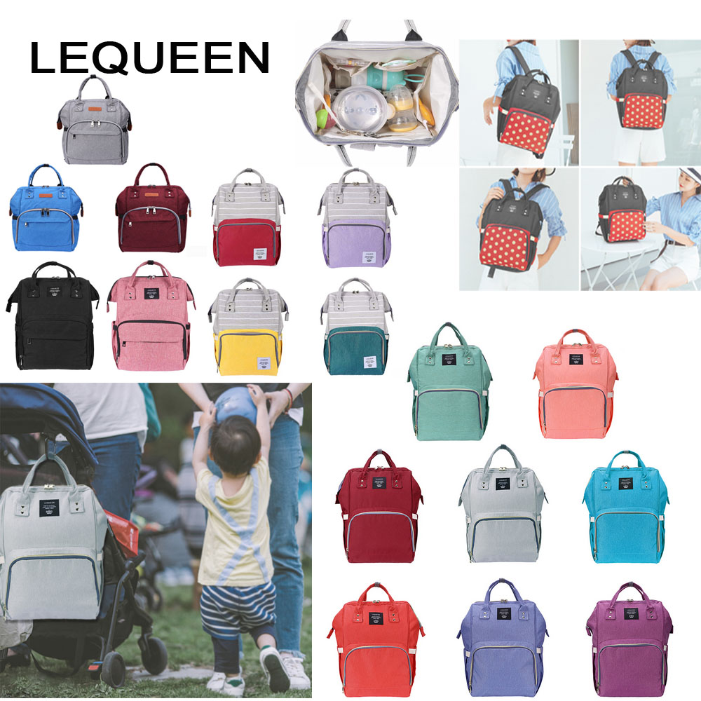3b79710a0cc LEQUEEN 42 Styles Fashion Mummy Maternity Nappy Bag Large Capacity Baby Bag  Travel Backpack Designer Nursing Bag for Baby Care