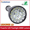 Powerful LED Flashlight 20000 Lumens Lanterna led linternas Torch 15 x CREE XM-L2 LED Waterproof Super Bright LED Flashlight