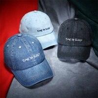Mens Jeans Baseball Caps Vintage Letter Embroidery Unisexy Denim Hats Women Spring Summer Cap Gorras