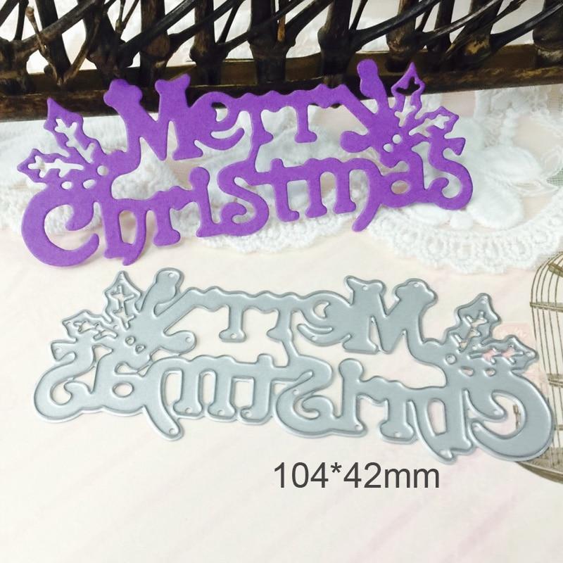 Metal Cutting Dies Dies Merry Christmas Scrapbooking