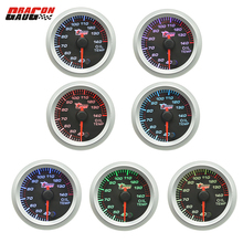 Dragon gauge 52mm Car Stepper moto self-test function oil temperature gauge pointer type instrument 7 colour backlight