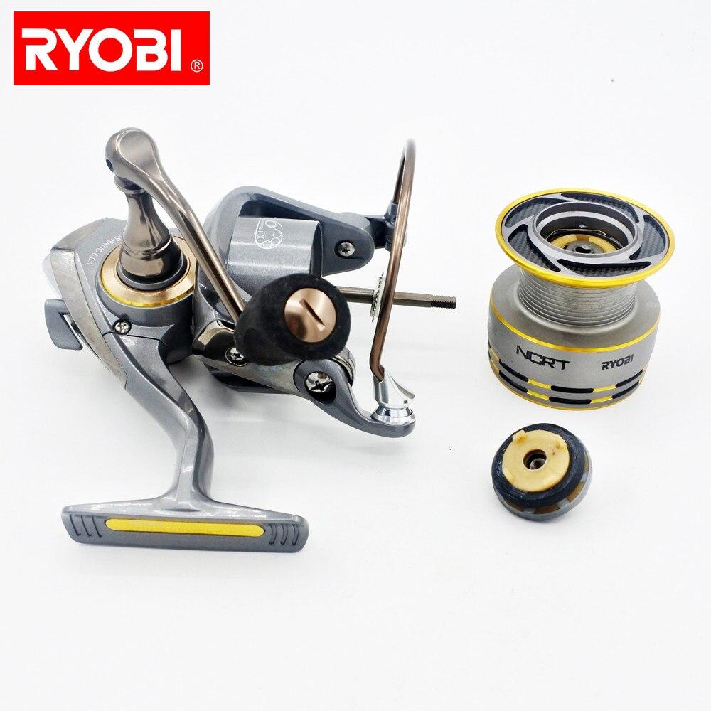 RYOBI ZAUBER Rotor de corps en Aluminium Ultra lisse 6 + 1 BB moulinet de pêche en rotation poignée pliable en Aluminium moulinet de pêche solide portable
