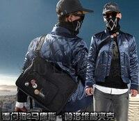 Игры Watch Dogs 2 Косплей «Маркус Холлоуэй» костюм Hallooween равномерное наряд футболка + пальто + брюки + шляпа + маска + сумка L XXXL