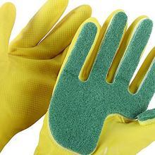 Абсолютно новая и высококачественная долговечная Губка Для Кухни Латексные Перчатки кухонный инструмент для чистки посуды защитные перчатки pqw0713