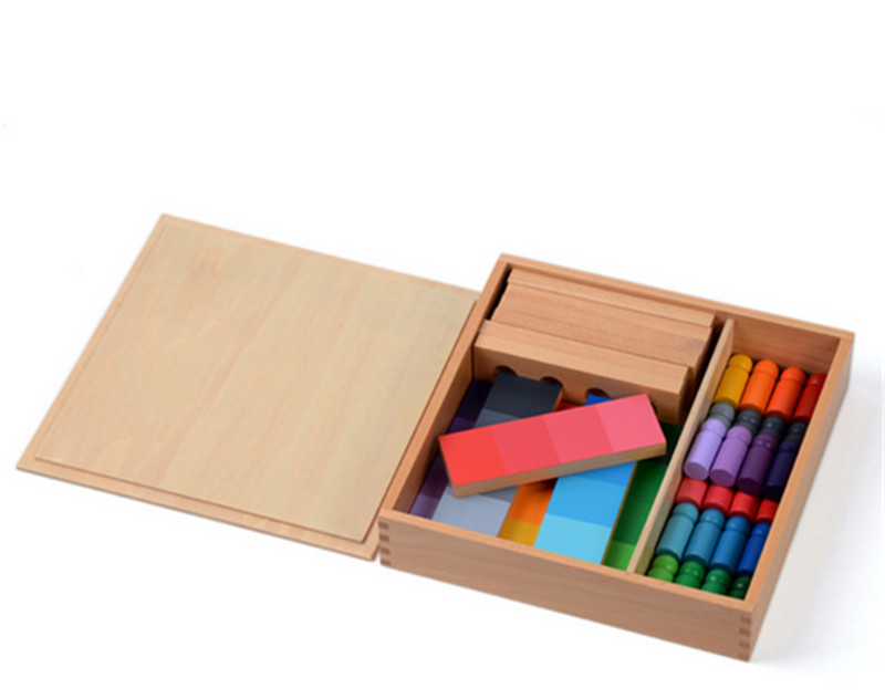 New Wooden Baby Toy Montessori 24 Pieces Color Resemblance Sorting Task Wood Early Childhood Preschool Kids Baby Gifts