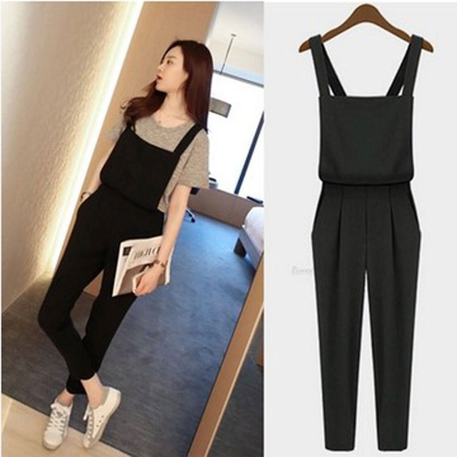 bbed55b6ba6 2016 HOT SALE Plus size Korean rompers Womens Jumpsuit bodysuit playsuit  Overalls Casual Skinny Pants Jeans macacao feminino
